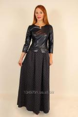 Stylish youth dress with leather top 42-48 r