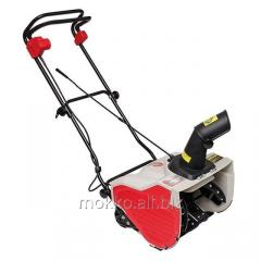 The snow blower is electric, 1,6 kW, working width