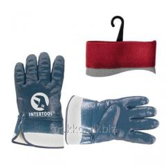 Glove oilproof (blue) on the basis of jersey