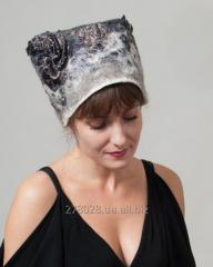 Valyany cap from wool and Grey Cat silk