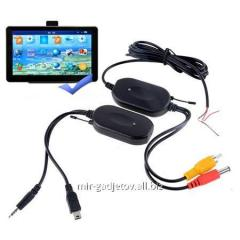 Automobile set of wireless transfer of video on