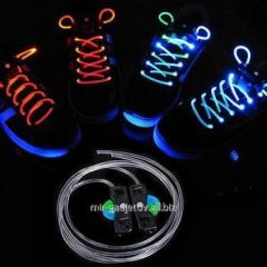 The shining neon LED laces for sneakers for