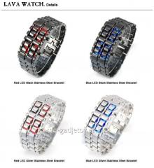 Exclusive wrist LED hours bracelets of Iron