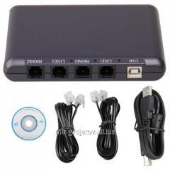 Двухканальный USB Voice Recorder - устройство для записи на ПК телефонных разговоров. Код товара: 00219