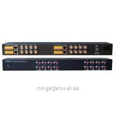 Active 16 channel receiver of video signal with