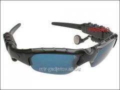 Sun-protection multimedia espionage MP3 glasses -