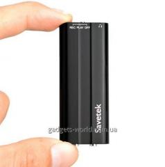 Миниатюрный металлический цифровой диктофон с активацией по голосу VOX, 8 Gb памяти и функцией плеера (мод. Savetek 600). Код товара: 01827