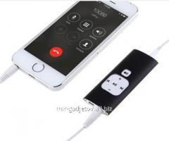 Портативный цифровой диктофон с 512 Mb памяти, 500 часов для записи разговоров с Iphone 5S/5C/5/4S/4/3GS/3G, Ezcap 240. Код товара: 01855