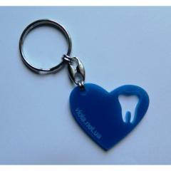"Charm ""Heart"", (blue), 1 piece."