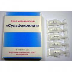 Сульфакрилат,  клей медицинский,  туба 1 мл,...