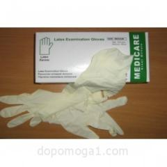 Перчатки смотровые нитриловые нестерильные, размер L, Допомога-1