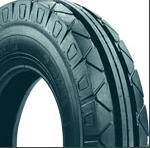 Tires for forward wheels of self-propelled chassis