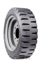Tires for road construction equipment and loaders