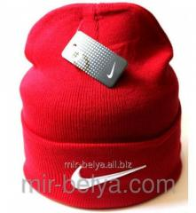 Nike cap Nike winter man's female red,