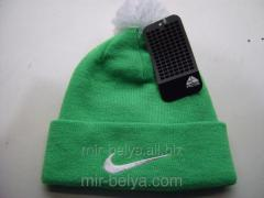 Men's Nike cap with a bubo warm woolen lime,