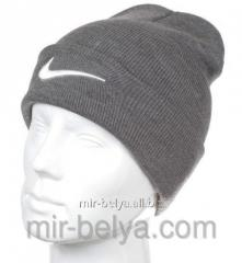 Nike cap Nike winter man's female gray,