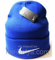 Nike cap Nike winter man's female blue,