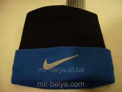 Men's Nike cap warm black-blue top,
