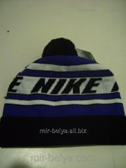 Men's Nike cap warm with a bubo a black top,