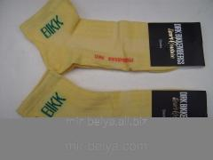 Men's sports Dirk Bikkembergs socks lemon,