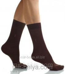 Brown Men's Bross socks cotton, art.38164146