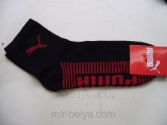 Sports Puma socks man's short dark blue with