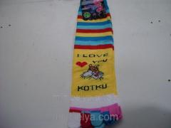 Women's socks with fingers socks a tiger,