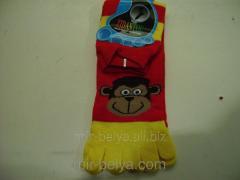 Women's socks with fingers the Monkey,
