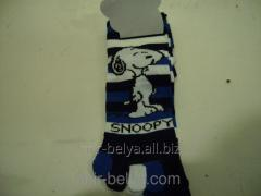 Women's socks with fingers of Snupi,