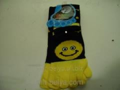 Women's socks with fingers the Smile,