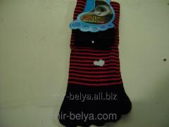 Women's socks with fingers a small strip,