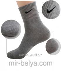 Sports Nike socks man's short dark gray,