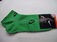 Men's short Nike socks green, art.38593550