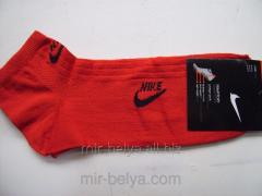 Men's sports short Nike socks red,