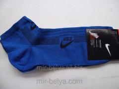Men's sports short Nike socks blue,