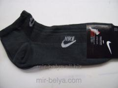 Sports men's short Nike socks gray,