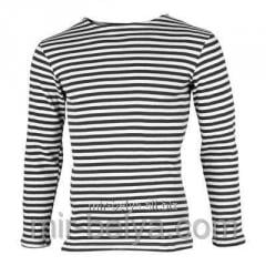 Man's stripped vest with a long sleeve warm,