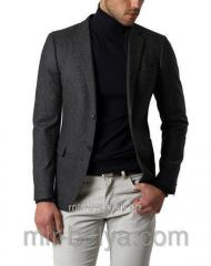 Golf man's polo-neck black mouth top,