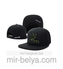 Adidas cap with a direct peak of snapback black,
