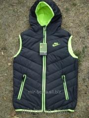 Men's warm sports Nike vest black,