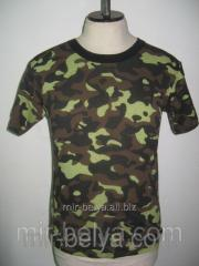 Men's t-shirt camouflage of a military khaki