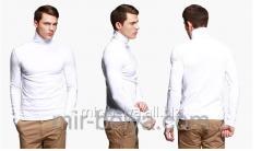 Golf man's polo-neck white top, art.54912126