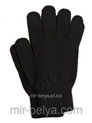 Gloves man's knitted warmed black,