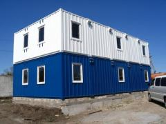 Modular buildings of container type