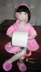 Textile doll - the holder for a toilet buiaga