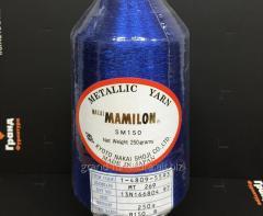 Нитка метализированая,синяя mt 269