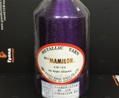 Нитка метализированая, фиолетовая  mt 419