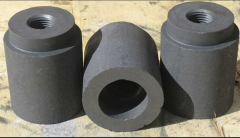 Products shaped of graphite.