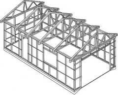 Frameworks metal for hangars