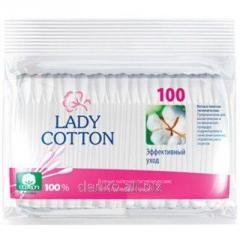 Lady cotton 100 Q-tips of plastic piece